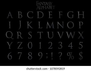 Steel Fantasy Alphabet - 3D Illustration