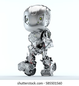 Cool Robot Upper Body Side View Stockillustration 298898114 ...