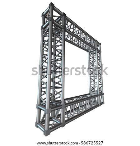 Steel Truss Girder Rooftop Frame Construction Stock Illustration ...