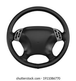 Steering Wheel 3D illustration on white background