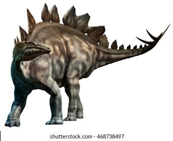 Stegosaurus 3D illustration