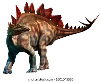 Stegosaurusfrom the Jurassic era 3D illustration
