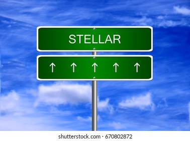 Stellar cryptocurrency price business mining wallet icon security trading currency exchange.