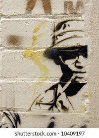 Stencil of the young Hunter S Thompson - Street-Art Series
