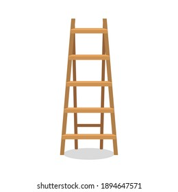 Step Folding Ladder isolated on a white background. 3d rendering