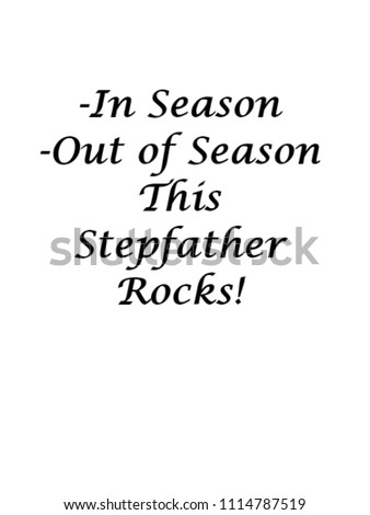 Stepdad Gifts Child This Stepfather Rocks Stock Illustration ...
