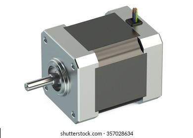 Stepper motor isolated on white background