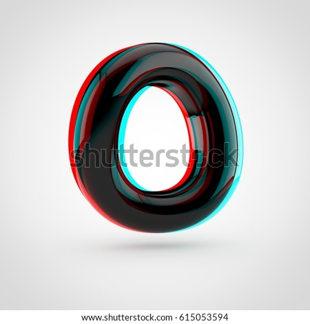 Royalty Free Stock Illustration Of Stereoscopic Glossy Black Letter