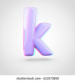 Pink Letter K Lowercase 3 D Render Stock Illustration 762291958