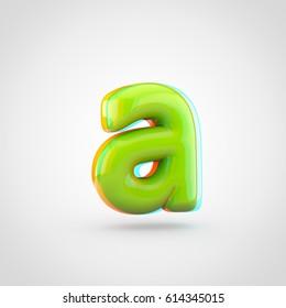 Glossy Lime Paint Alphabet Letter E Stock Illustration 627246044