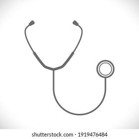 stethoscope medical icon isolated on white background