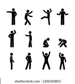 stick figure human icon