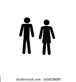 Stick man Man and woman Talking Conversation Icon Symbol Pictogram