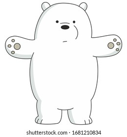 sticker cartoon funny cute polar bear