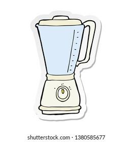 sticker of a cartoon kitchen blender