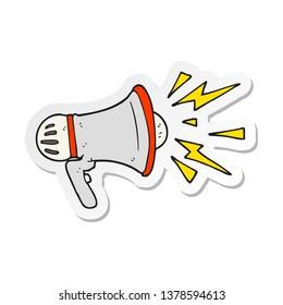 sticker of a cartoon loudhailer