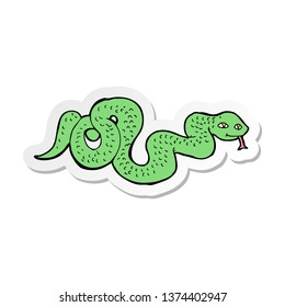 sticker of a cartoon snake