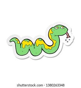 sticker of a cartoon snake