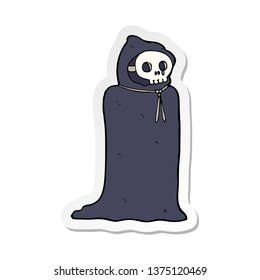 sticker of a cartoon spooky halloween costume
