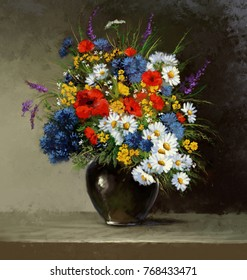 Still life, flowers paintings, fine art