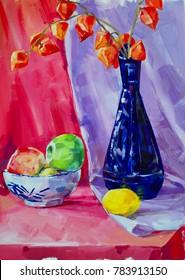 Still life oil paintings, flowers, fine art