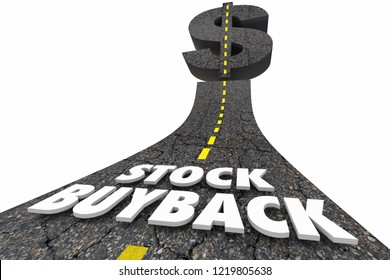 Stock Buyback Company Shares Buying Road Dollar Sign 3d Illustration