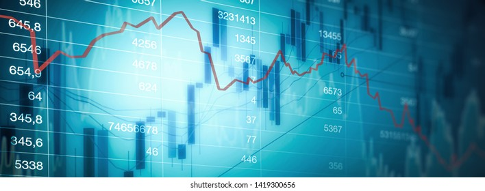 Stock chart trading money investment
