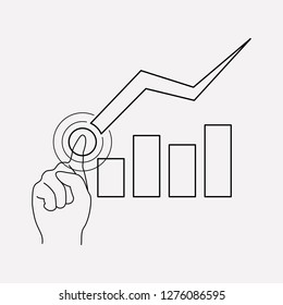 Stock decrease icon line element.  illustration of stock decrease icon line isolated on clean background for your web mobile app logo design.