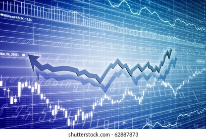 Stock Diagram with Bar Chart