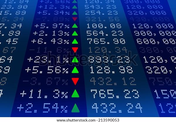 Stock exchange market display panel