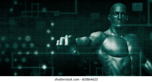 Stock Exchange Technology and Online Trading Art 3D Illustration Render
