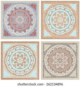 Stock illustration seamless pattern antique mosaic/Antique mosaic/Stock illustration seamless pattern in antique style