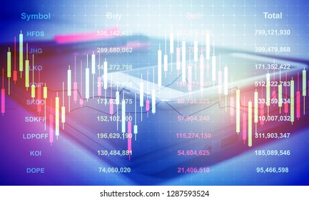 Stock market business.Working in office