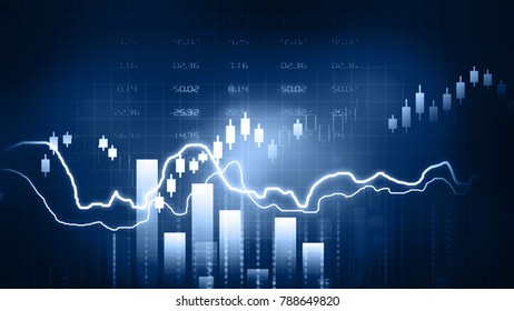 Stock Market Chart. 2d illustration