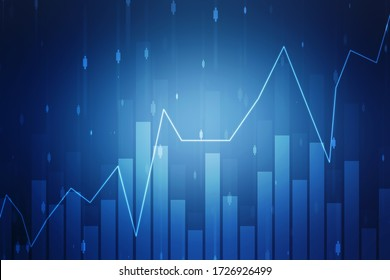 Stock market chart. Business graph background, Financial Background