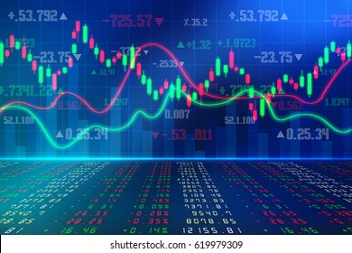 Stock market chart. Business graph background
