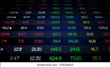 stock market exchange graph illustration concept 3d illustration