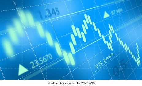 Stock market or forex trading graph. Chart in financial market. Abstract finance background.