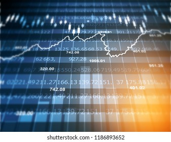 Stock market graph. Abstract finance background. Digial illustration