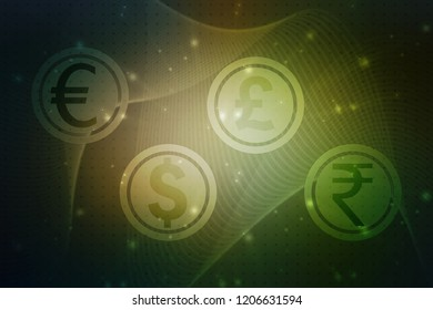 Stock Market Graph and Bar Chart, 2d illustration Business graph background