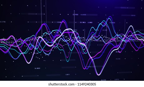 Stock market graph. Investment graph concept. 3d rendering.