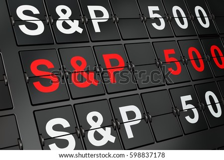 Stock Market Indexes Concept Sp 500 Stock Illustration 598837178