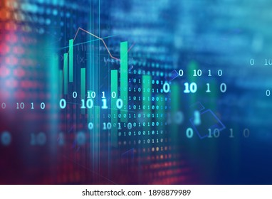 stock market investment graph on financial numbers abstract background.3d illustration,concept of business investment and crypto currency.3d illustration