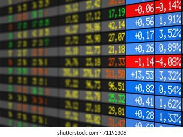 Stock market tableau électronique