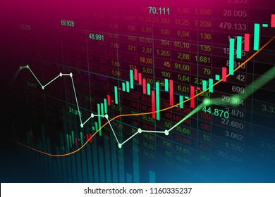 Stock market  trading graph in futuristic concept suitable for financial investment or Economic trends business idea . Abstract finance background