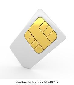 Stock Photo:  3d sim card