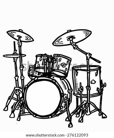 Stock Realistic Illustration Drum Kit Snare Stock Illustration