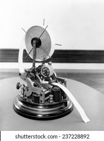 Stock ticker of the late 19th and early 20th century Early versions of stock tickers provided the first mechanical means of conveying stock prices over long distance over telegraph.