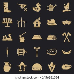 Stockroom icons set. Simple set of 25 stockroom icons for web for any design