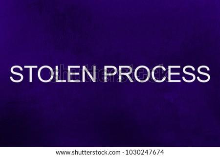 Stolen Process Text Against Ultra Violet Stock Illustration